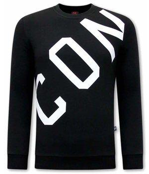 Tony Backer ICON Printed Sweater - Black