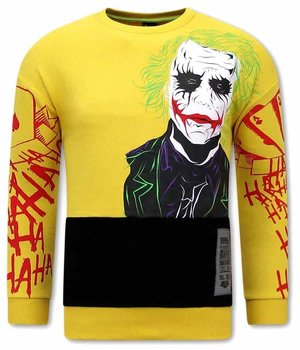 Tony Backer Men Sweatshirt Joker Print - Yellow