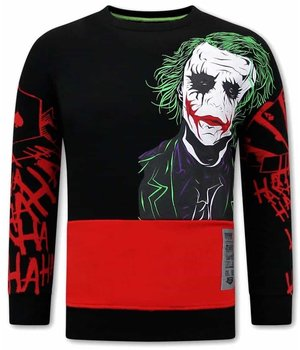 Tony Backer Men Sweatshirt Joker Print - Black