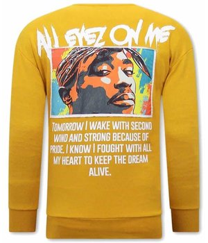 Tony Backer All Eyes On Me Tupac Sweatshirt - Yellow