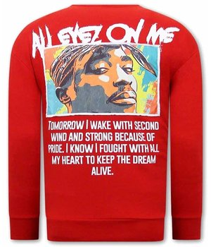 Tony Backer All Eyes On Me Tupac Sweatshirt - Red
