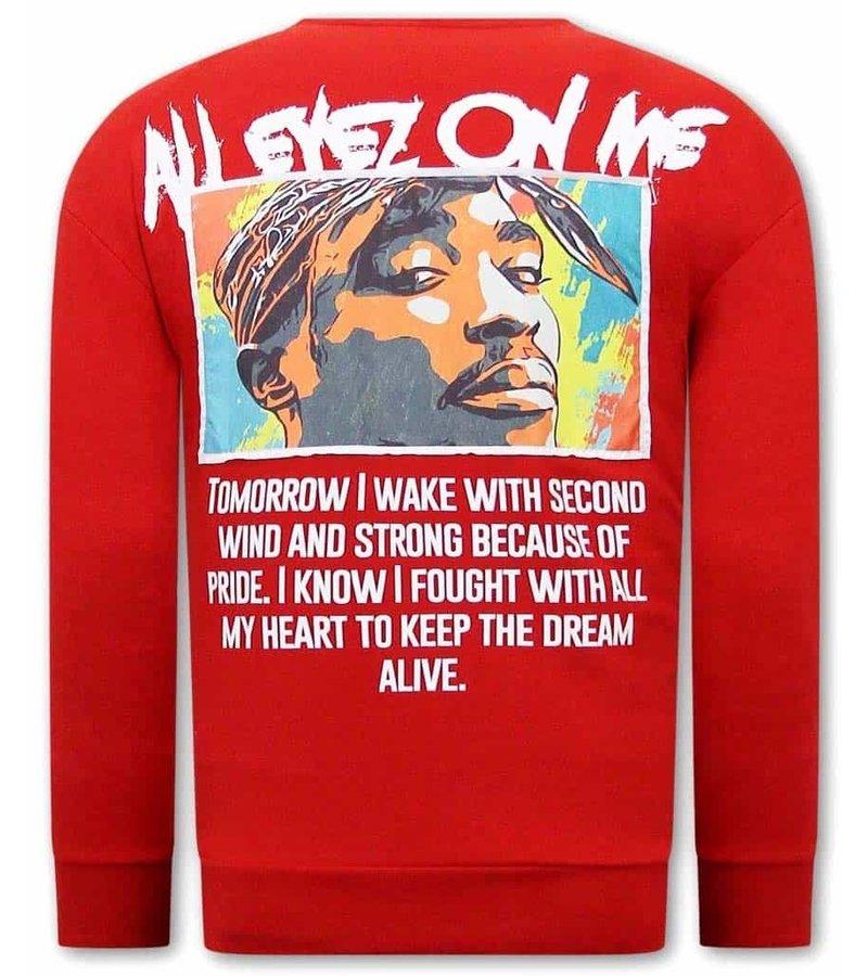 Tony Backer All Eyes On Me Tupac Sweatshirt - Red