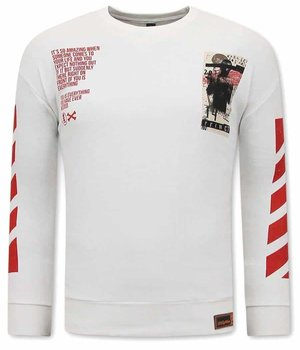 Tony Backer Harorock Cafe Sweatshirt - White