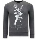 Tony Backer Anonymous Sweatshirt For Men - Grey