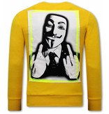 Tony Backer Anonymous Sweatshirt For Men - Yellow