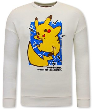 Tony Backer Pikachu Sweatshirt For Men - White