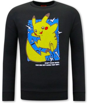 Tony Backer Pikachu Sweatshirt For Men - Black