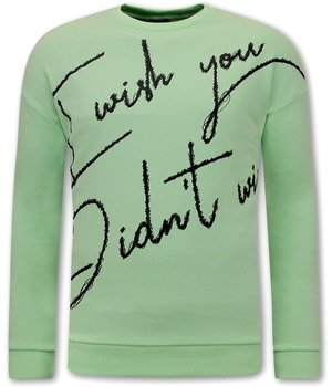 Tony Backer Sweater With Text - Green