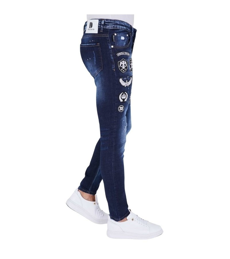 True Rise Embroidered Patch jeans - 5201E - Blue