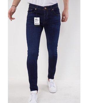 True Rise Skinny Jeans For Men - 5306 - Blue