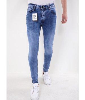 True Rise Plan Jeans For Men - 5305 - Blue