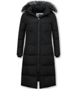 Matogla Ladies Padded Winter Coat Long  - 8606Z - Black