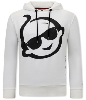 Local Fanatic Zwitsal Print Hoodie For Men - White