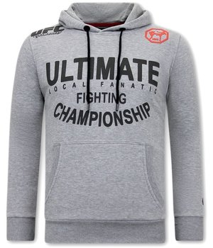 Local Fanatic UFC Ultimate Fighting Hoodie - Grey