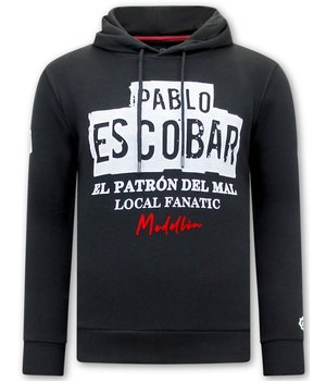 Local Fanatic Hoodie For Men Pablo Escobar - Black