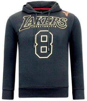 Local Fanatic Lakers 8 Printed Hoodie - Black