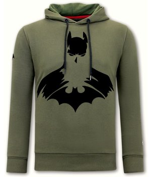Local Fanatic Men Hoodie  Batman Print - Green