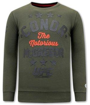 Local Fanatic Conor McGregor Printed Sweatshirt - Green