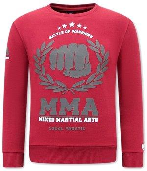 Local Fanatic MMA Fighter Sweatshirt  For Men - Bordeaux