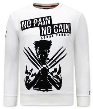 Local Fanatic X Man  Wolverine Print Sweatshirt - White