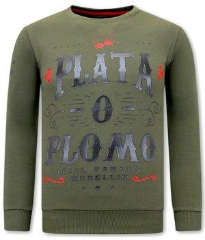 Local Fanatic PLATA O PLOMO Men Sweater - Green