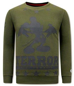 Local Fanatic Terror Mouse Printed Sweatshirt - Green