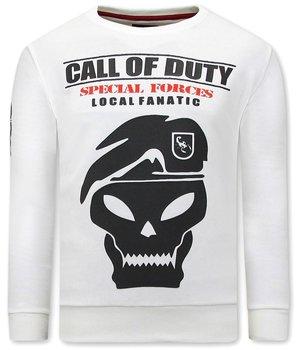 Local Fanatic Men Sweater Call Of Duty - White