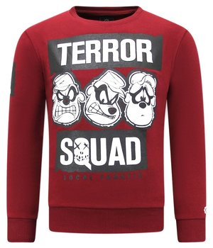 Local Fanatic Funny Print SweaterTerror Beagle Boys - Bordeaux