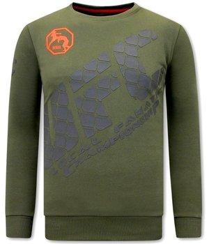 Local Fanatic UFC Print Sweater - Green