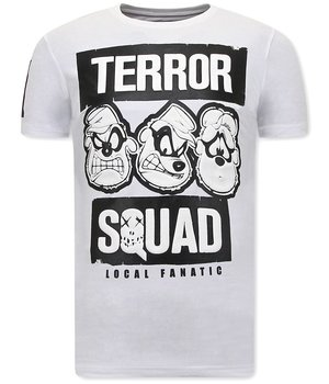 Local Fanatic Funny Men T shirt Beagle Boys Squad  - White