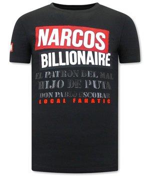 Local Fanatic Narcos Billionaire Men T Shirt - Black