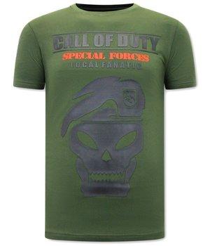 Local Fanatic Man T Shirt Call of Duty  - Green