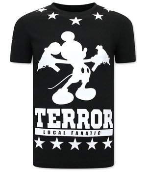 Local Fanatic T Shirt With Terror Mouse Print - Black