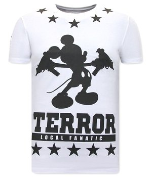 Local Fanatic T Shirt With Terror Mouse Print - White