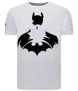 Local Fanatic T Shirt with Batman Print - White