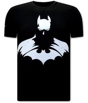 Local Fanatic T Shirt with Batman Print - Black