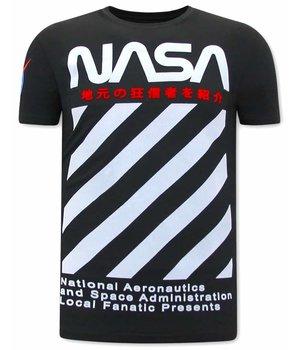 Local Fanatic NASA Print Men T Shirt - Black