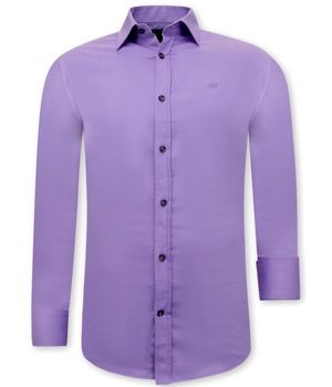 Tony Backer Classic Men's Shirt Styles - 3073 - Purple