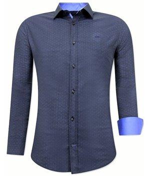 Tony Backer Dot Printed Shirts Mens - 3067NW - Blue