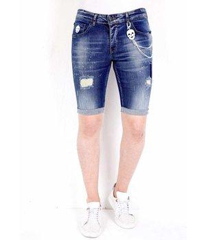 Local Fanatic Ripped Short Pants Men - 1015 - Blue