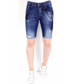 Local Fanatic Mens Shorts Ripped - 1020 - Blue