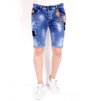 Local Fanatic Denim Shorts Mens Ripped - 1014 - Blue