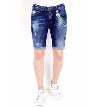 Local Fanatic Denim Shorts Mens Fashion - 1017 - Blue