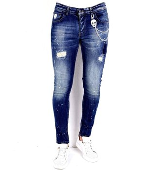 Local Fanatic Ripped Jeans For Guys - 1010 - Blue