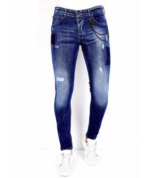 Local Fanatic Slim Fit Ripped Jeans Men - 1001 - Blue