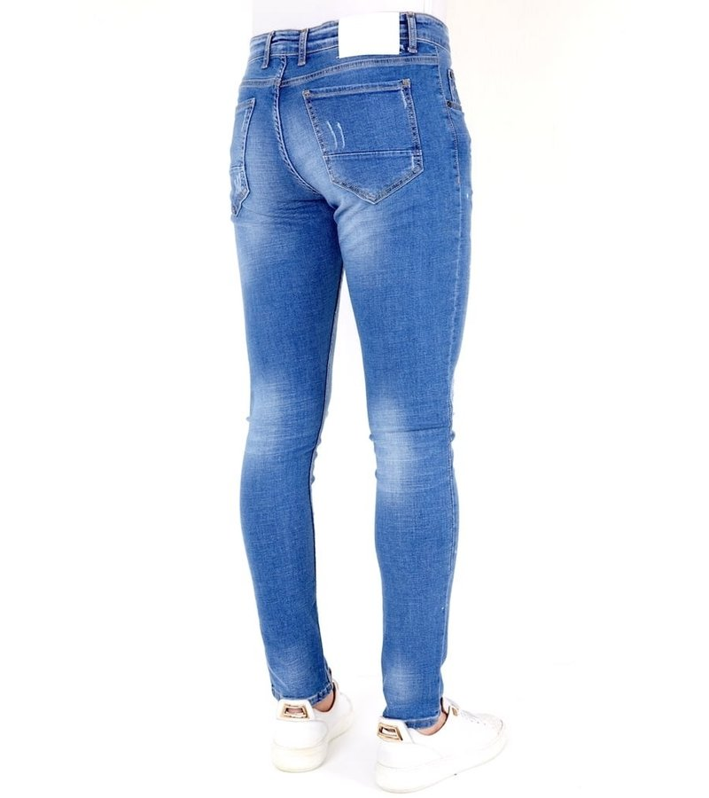 Local Fanatic Mens Ripped Jeans Slim Fit - 1031- Blue