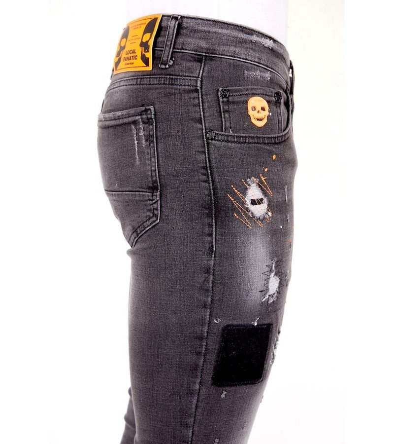 Local Fanatic Street Style Jeans For Men - 1034 - Grey