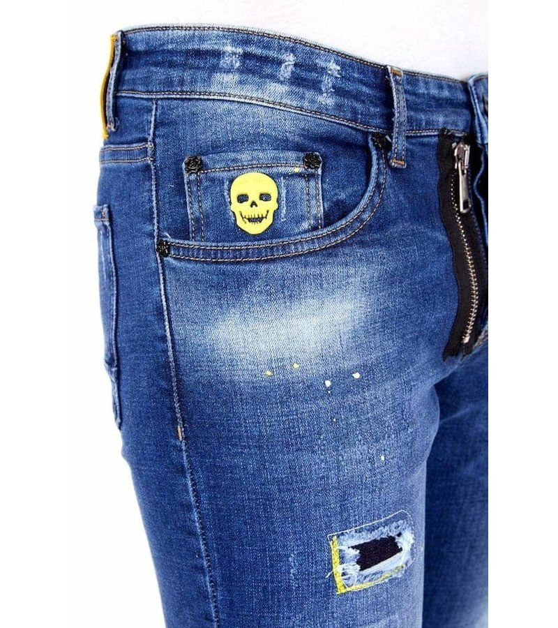 Local Fanatic Ripped Jeans Men Style - 1023 - Blue