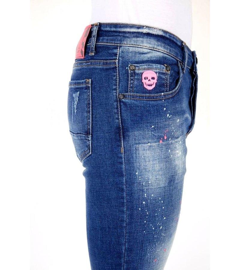 Local Fanatic Paint Drops Jeans Men - 1036 - Blue