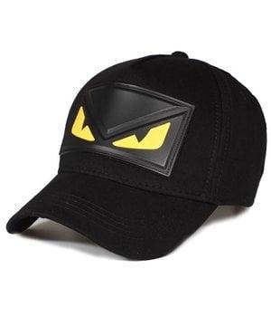 Enos Mens Caps With Yellow Eye - Black